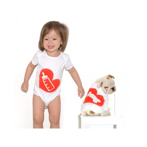 Milk Bone Baby Onesie and Dog  - $40.00