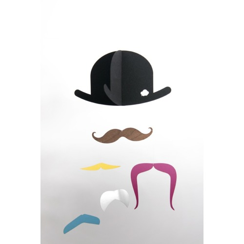 Mr Moustache baby mobile by jaellundtofta on Etsy - $24.00