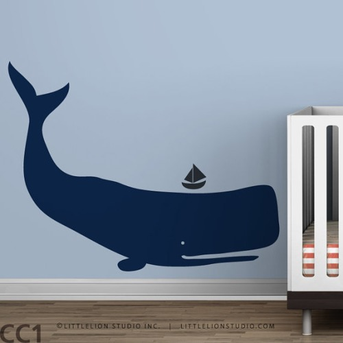 Whale Wall Decal Baby Zoo by LeoLittleLion on Etsy - $44.00