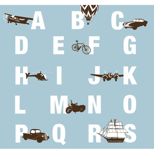 Modern Nursery Wall Art Transportation ABC Art 11 x by nevedobson - $44.00