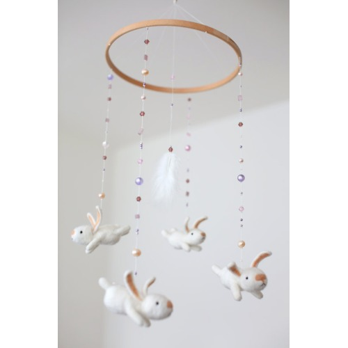 Whimsical hand felted baby mobile by MistrSandman - $129.00