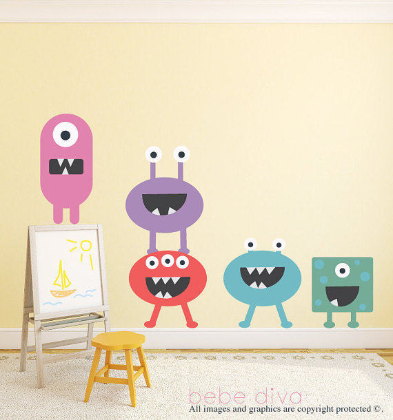 Monster Wall Decals - $129.99