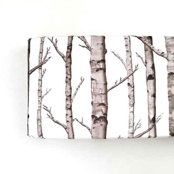 Birch Trees Changing Pad Cover - $45.00