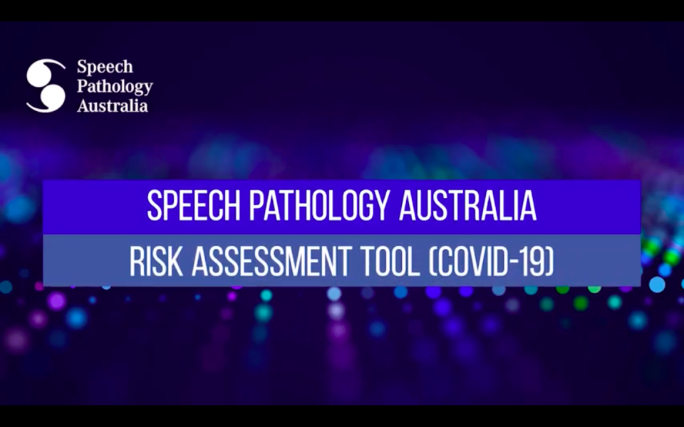 Speech Pathology Australia Risk Assessment Tool