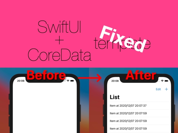 初手で迷わないCoreData有効 Life Cycle SwiftUI App テンプレート(Xcode12.2 later) - iOS Application Develop