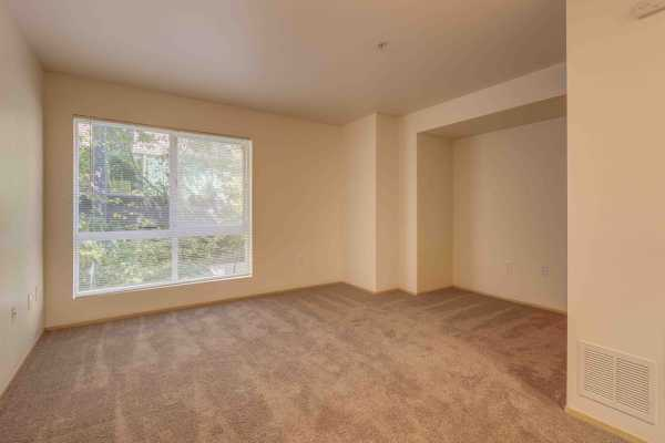 Spacious bedroom at Excalibur apartments