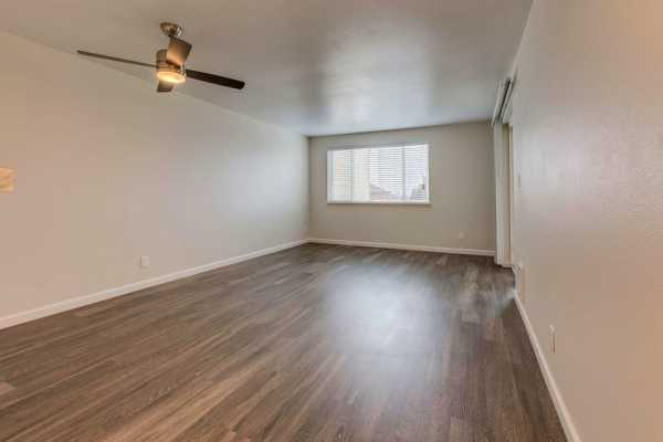 Wood flooring inside Hill Crest apartments