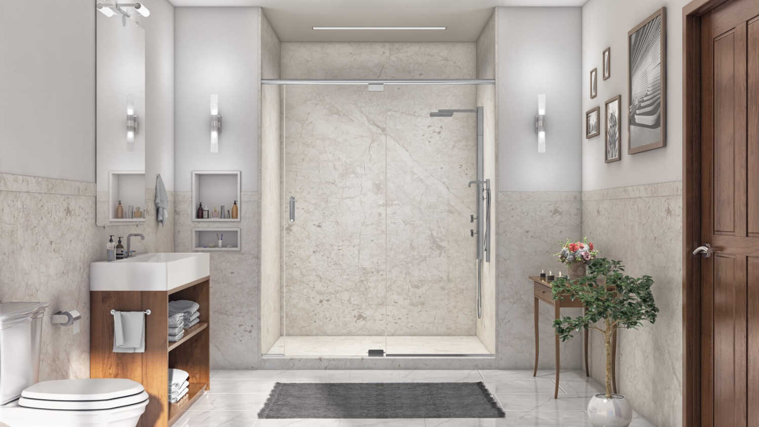 Which Shower Wall Material Offers the Most Benefits?