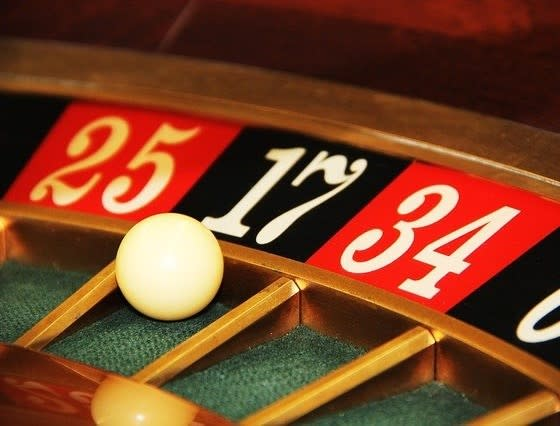 Roulette ball in the 17 pocket