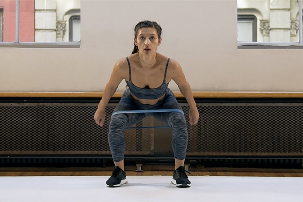Narrow to Wide Squat Jumps x 10