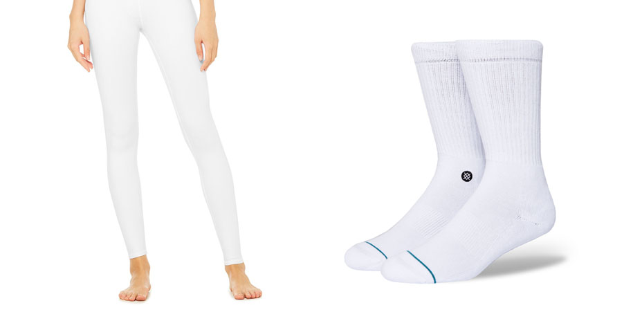 Alo Yoga High-Waist Airbrush Legging + Stance Icon Socks