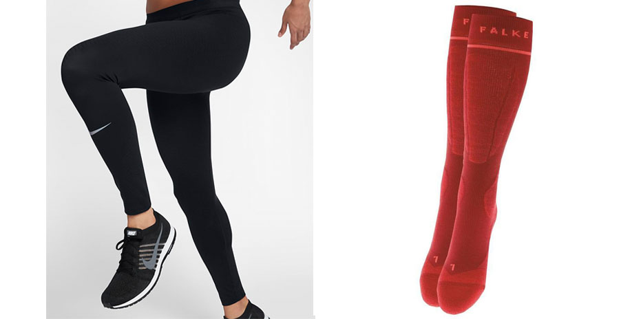 Nike Zonal Strength Leggings + Falke Energising Wool Socks