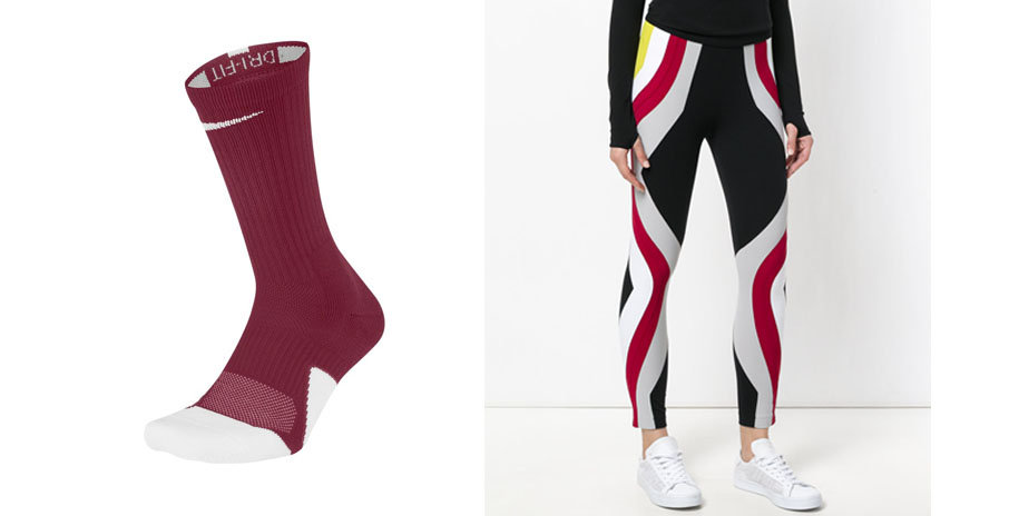 No Ka 'Oi Leggings + Nike Elite 1.5 Team Crew Socks