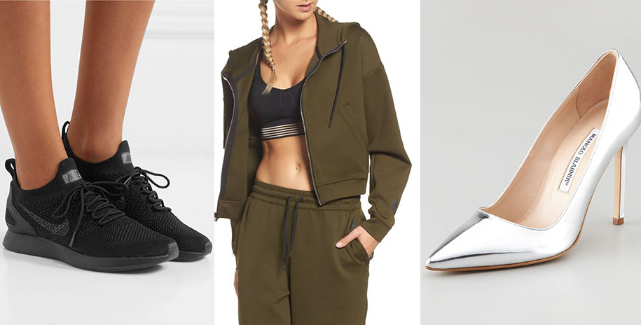 NIKE LAB STRETCH CULOTTES + MANOLO BLAHNIK BB PUMPS