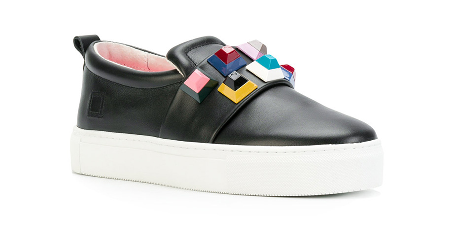 D.A.T.E. STUDDED SLIP-ON SNEAKER
