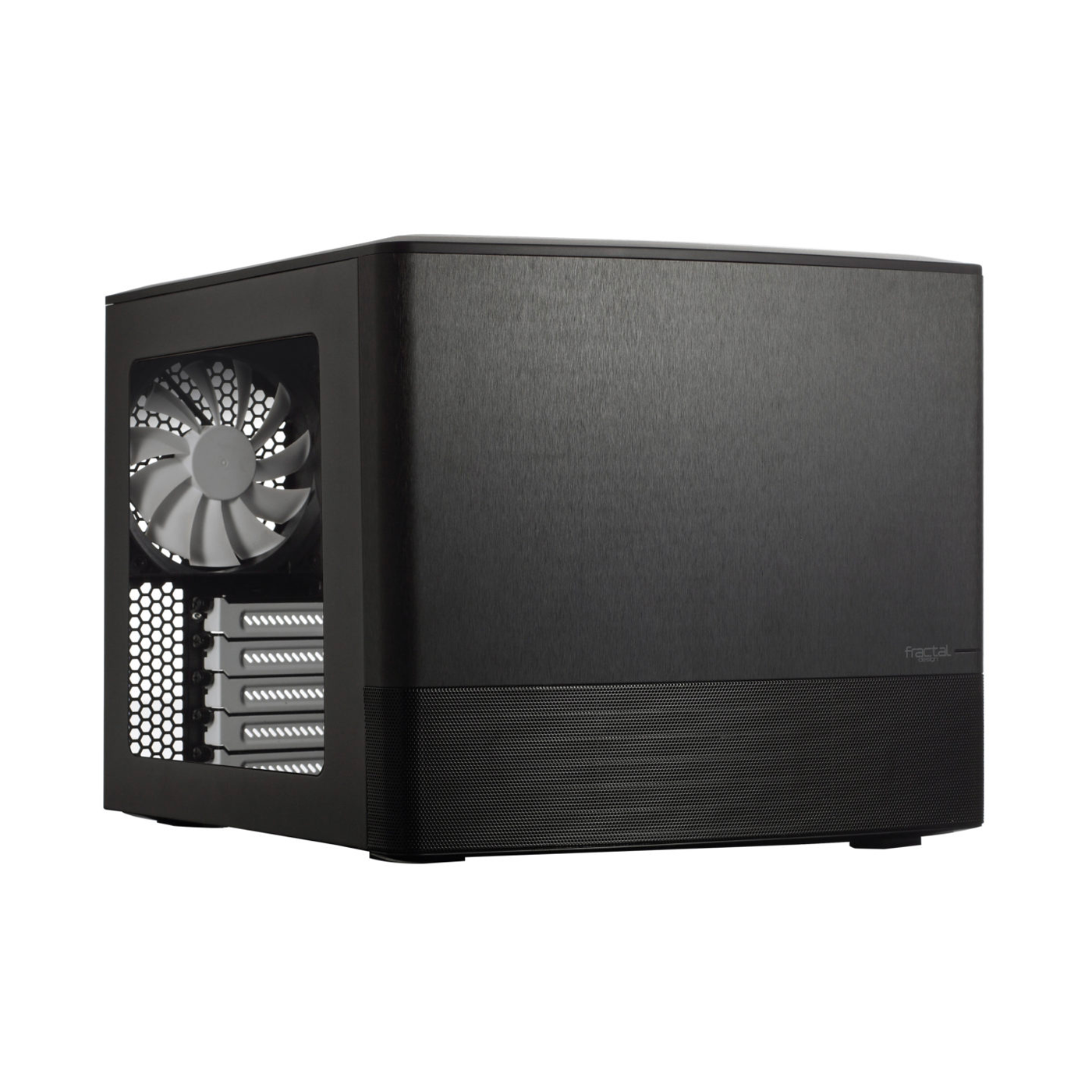 An image of the Fractal Node 804 PC case on a white background