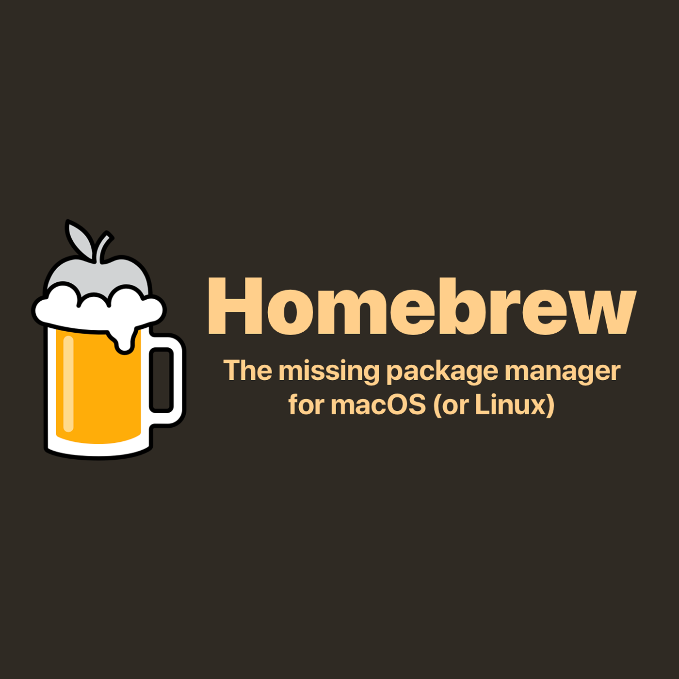 The Homebrew package manager logo