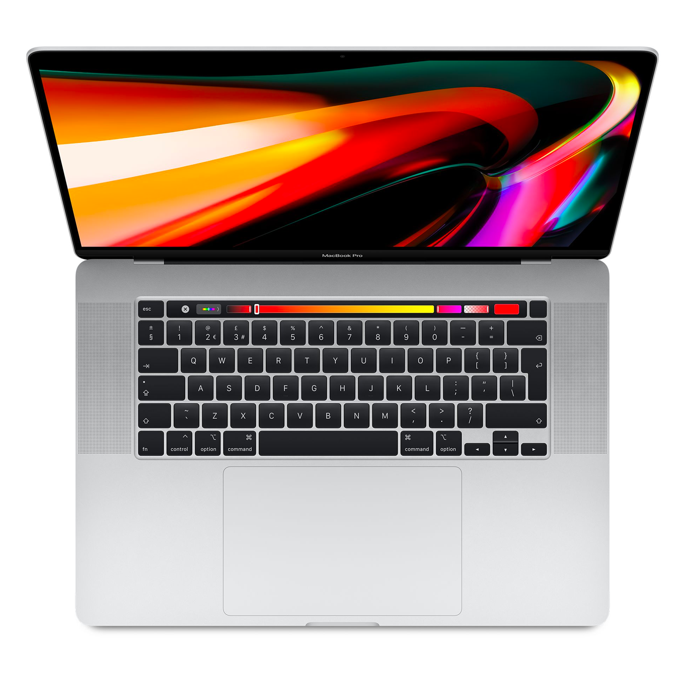 An image of a MacBook Pro 16 inch with a touchbar