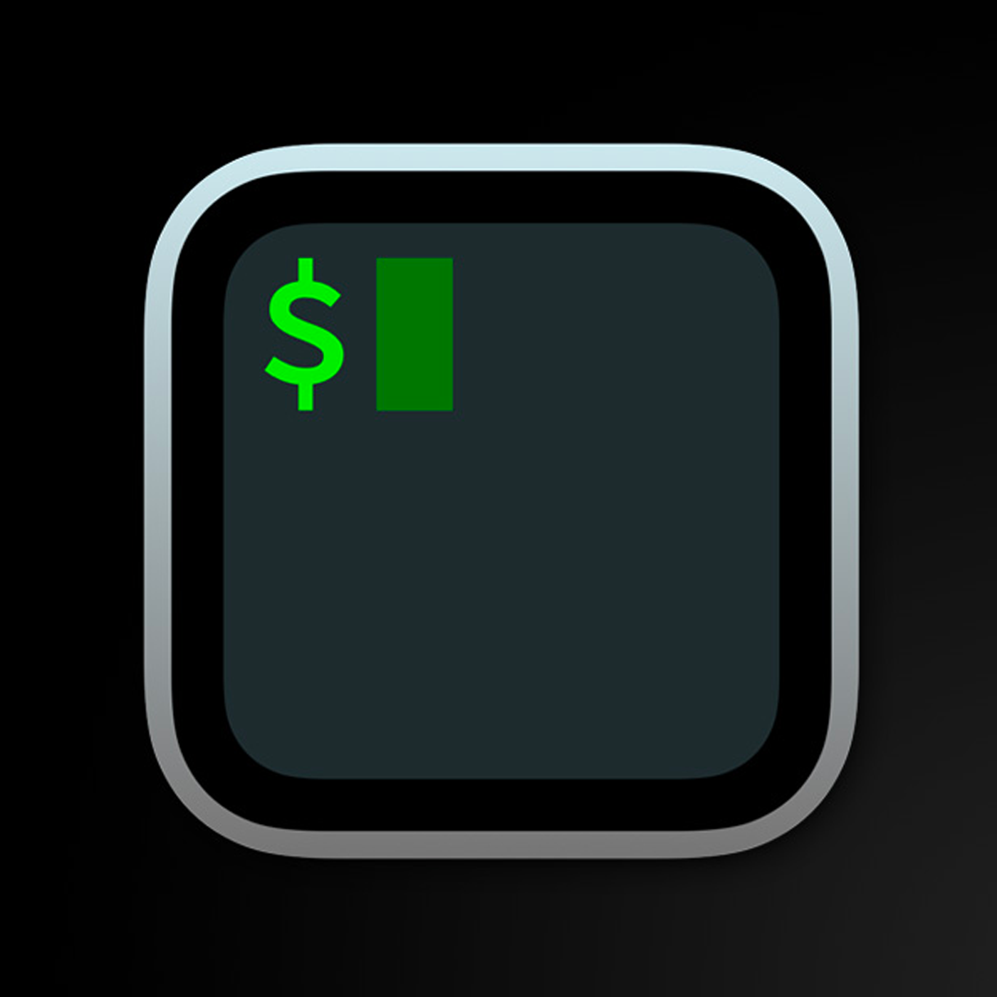 The iTerm2 logo of a $ sign in a terminal