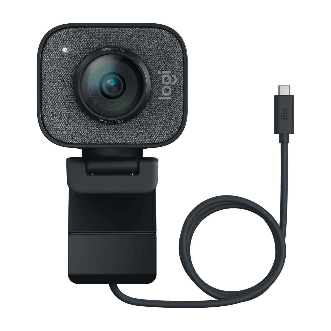 An image of a Logitech Streamcam on a white background