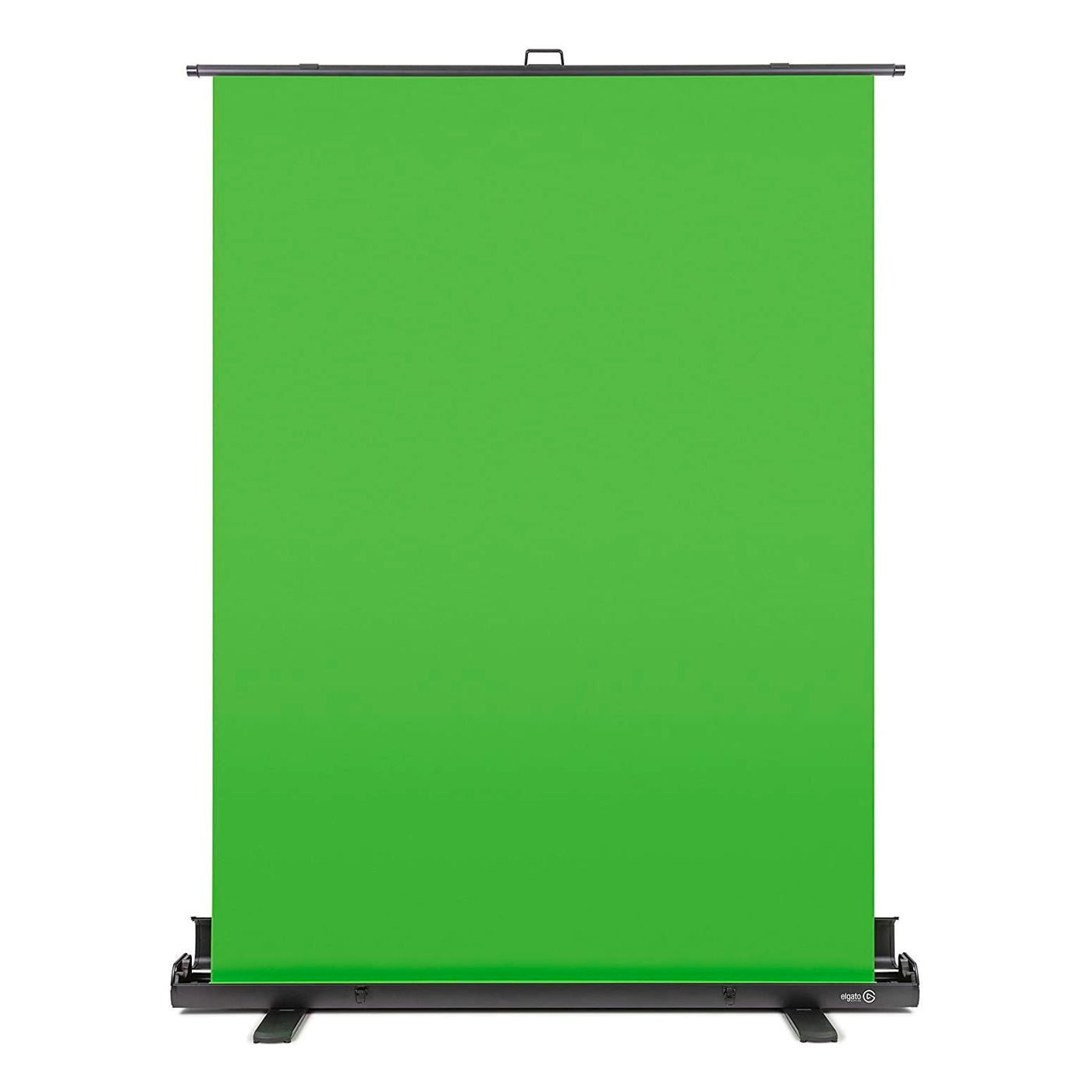 An image of an Elgato collapsible green screen on a white background