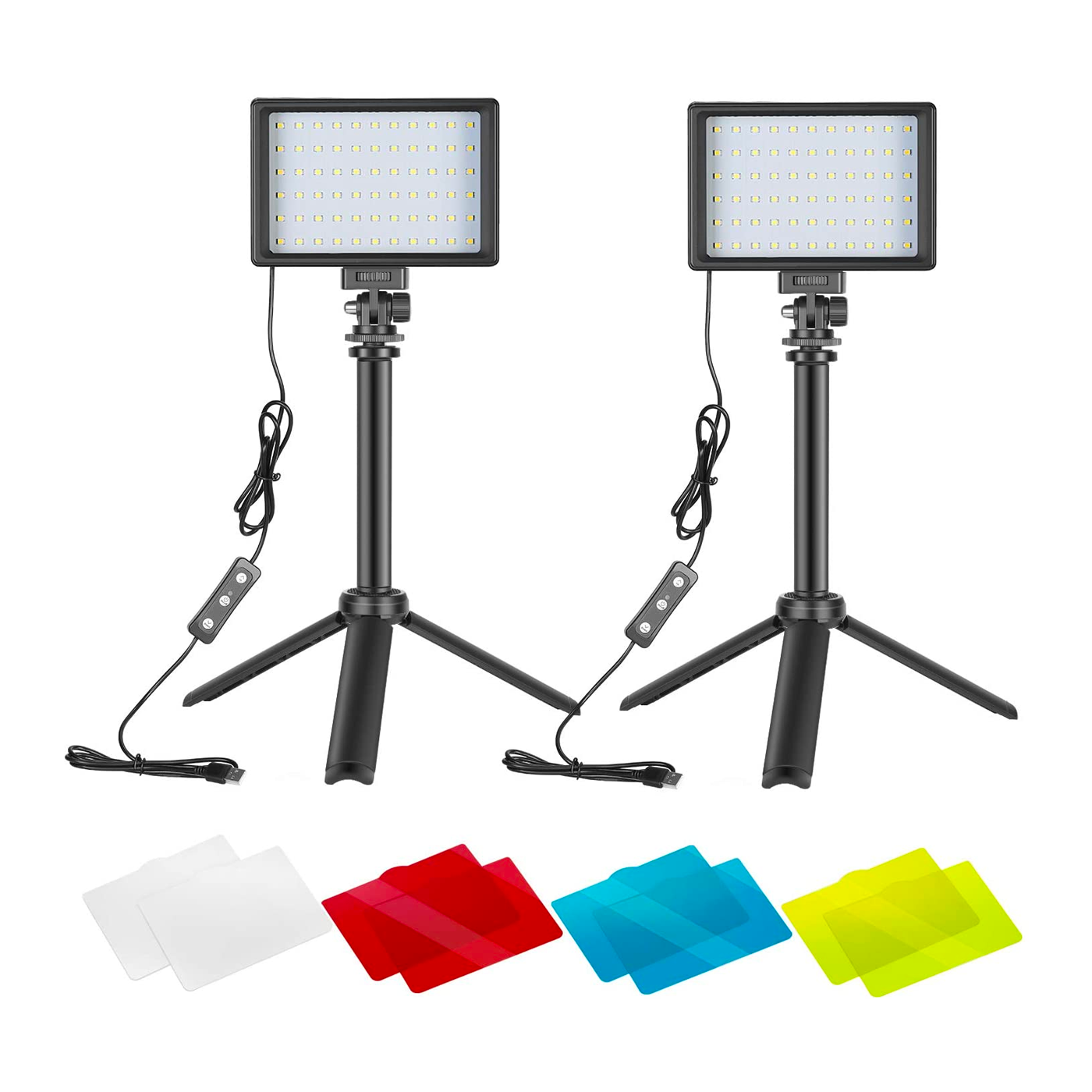 An image of the Neewer photography lighting kit on a white background