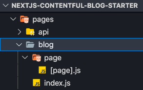 Screenshot of the folder structure in VSCode after creating the required files
