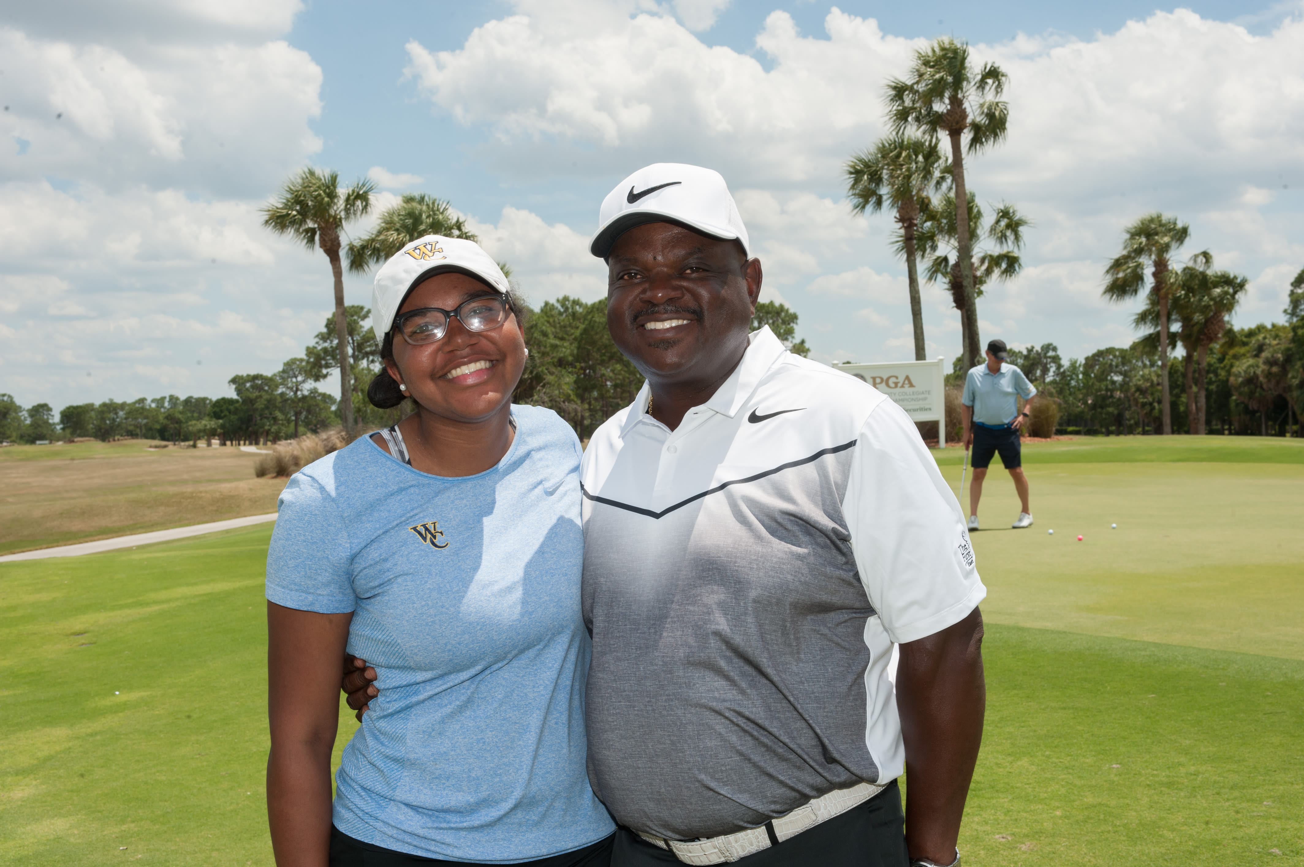 Jeff Dunovant, PGA with his daughter, Kendall.