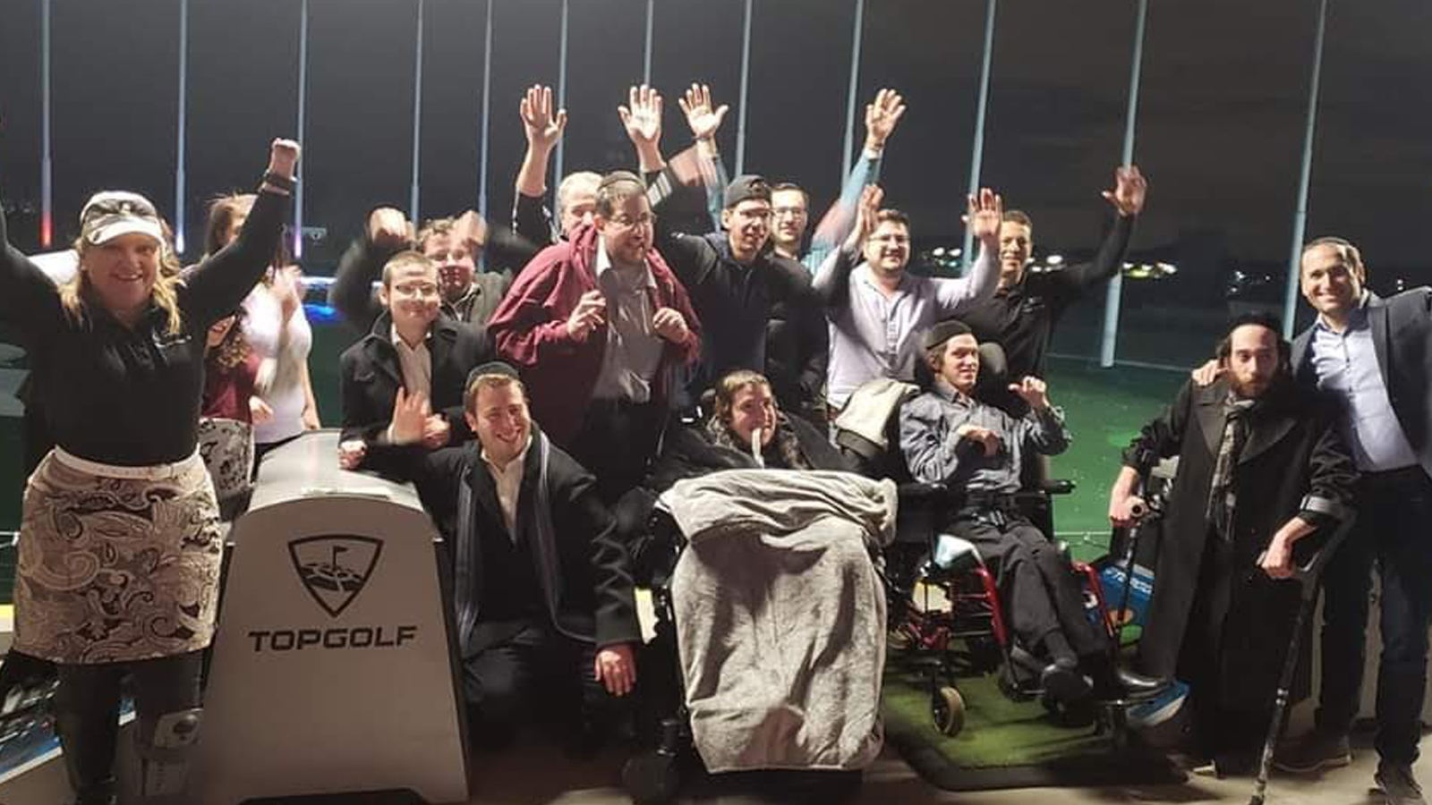 Adaptive Golfers at TopGolf.