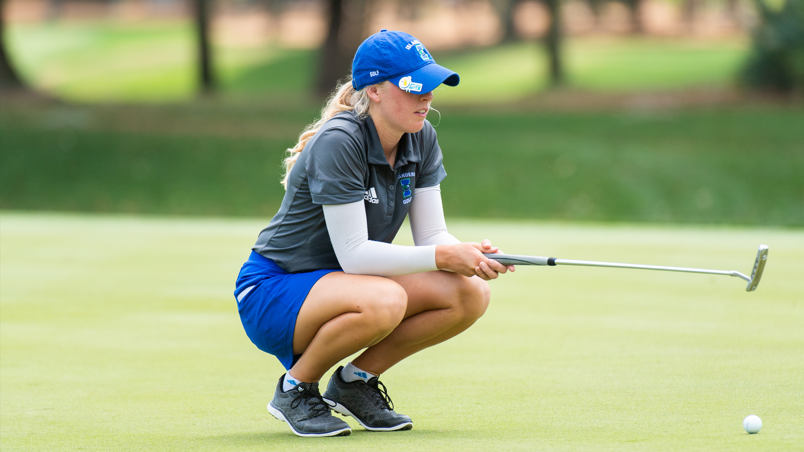 Kellsey Sample, of the Texas A&M Corpus Christi women's golf team, at round two of the 34th PGA WORKS Collegiate Championship.