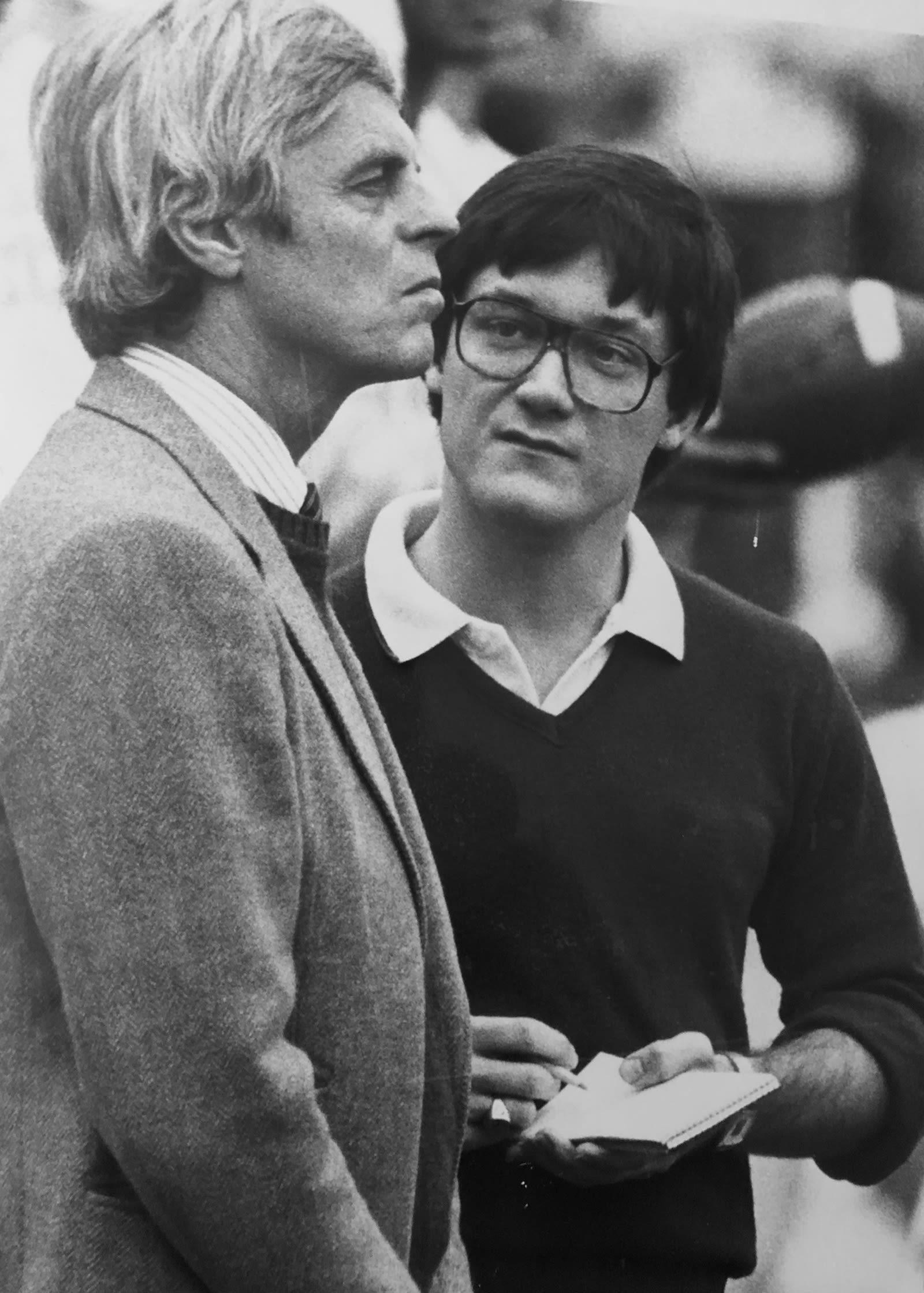 Bill fields in 1982 with legendary journalist George Plimpton.