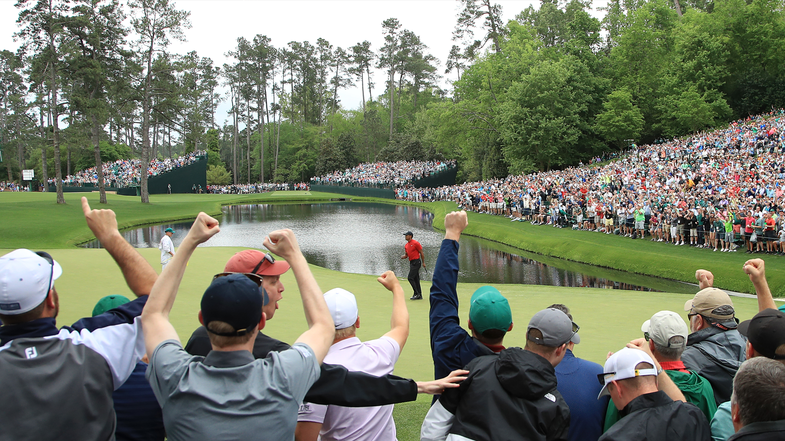 The 16th green at Augusta National Golf Club. (Photo by Andrew Redington/Getty Images)