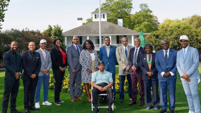 Masters Honorary Starter Lee Elder Passes the Torch of Hope to 12 Black PGA Members