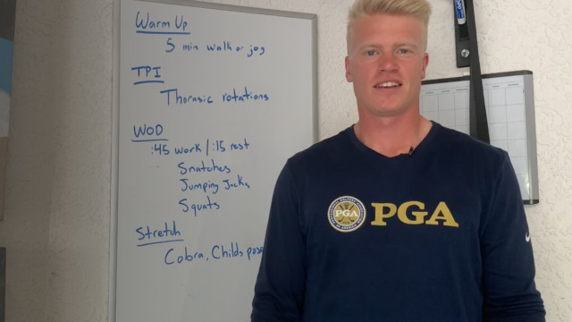 PGA Coach Thor Parrish's Tips for Staying Fit at Home