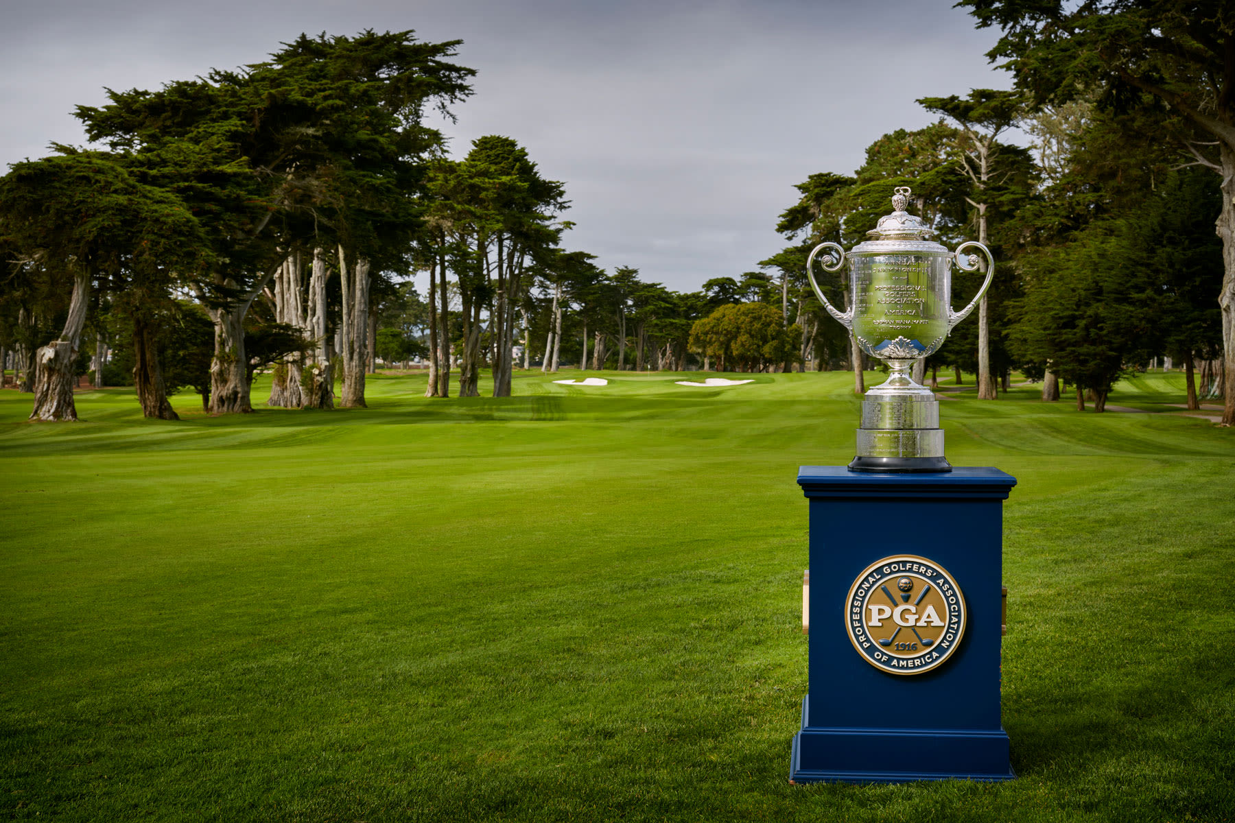 The Wanamaker Trophy at Harding Park.