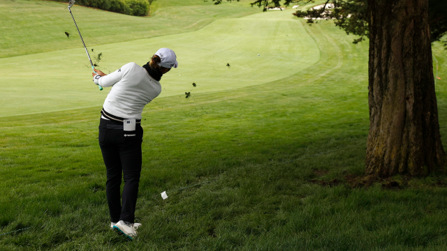 The Best Approach to Attacking the Golf Ball on a Hill