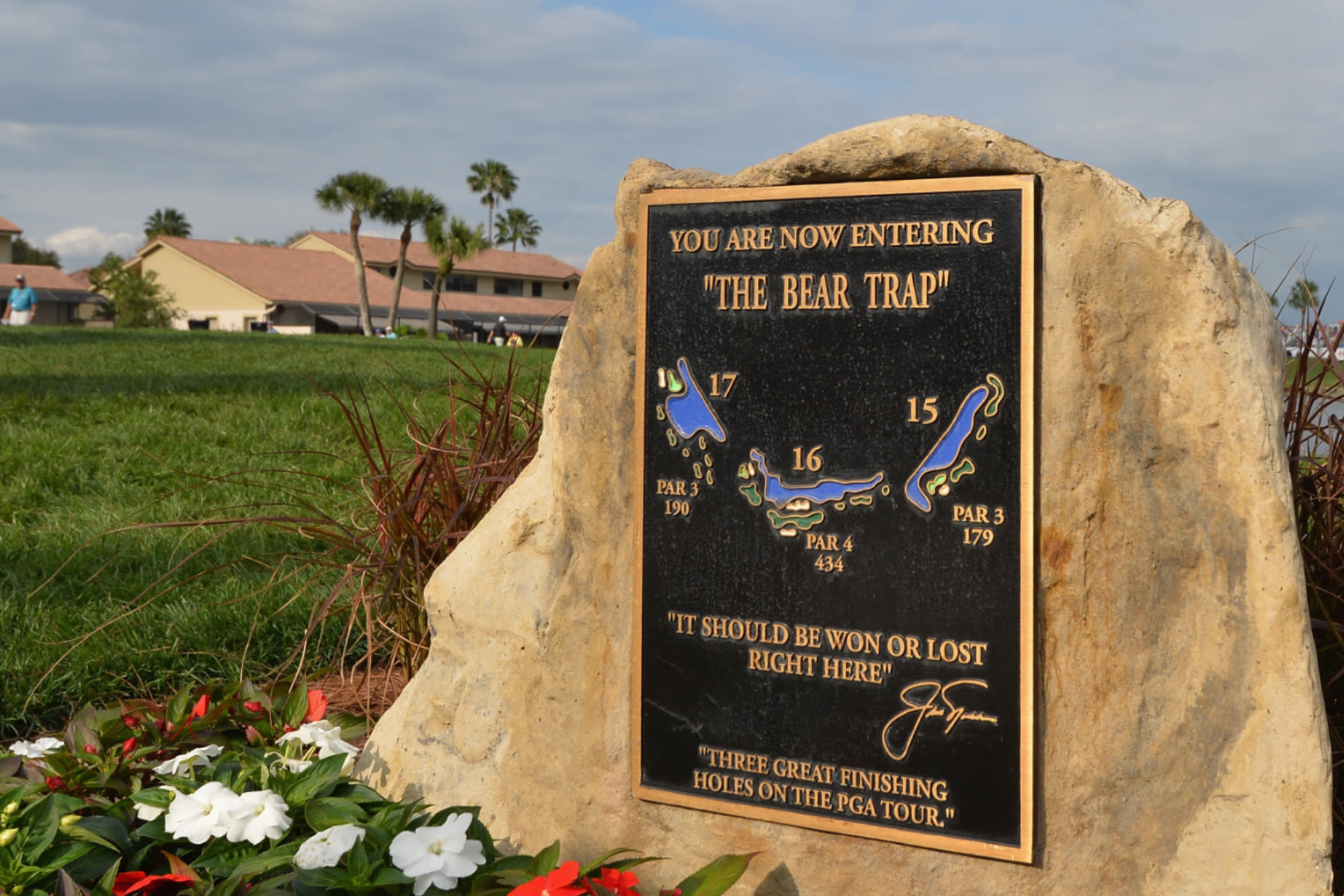 PALM BEACH GARDENS, FL - FEBRUARY 27: A sign displays the Bear Trap during the first round of The Honda Classic at PGA National Resort and Spa on February 27, 2014 in Palm Beach Gardens, Florida. (Photo by Stuart Franklin/Getty Images)