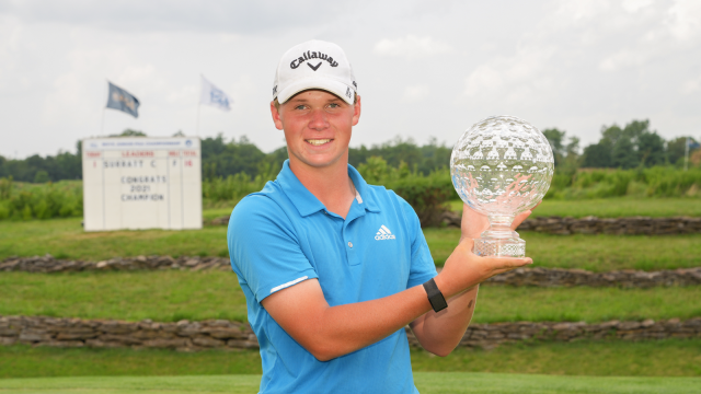 Surratt's Special Week with Granddad Ends with a Win at the 45th Boys Junior PGA Championship.