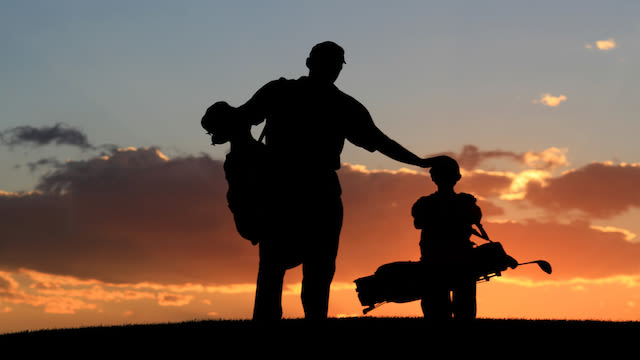 A parent child at Sunset