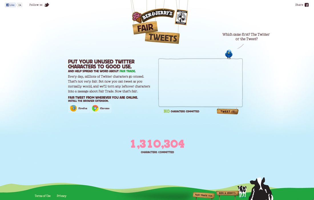 Ben and Jerrys - Fair Tweets - Work - Image - 01