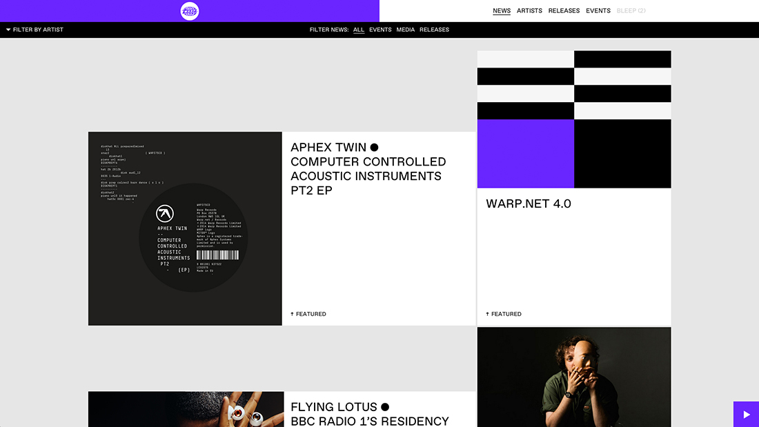 Warp Records - Warp.net - Work - Image - 01