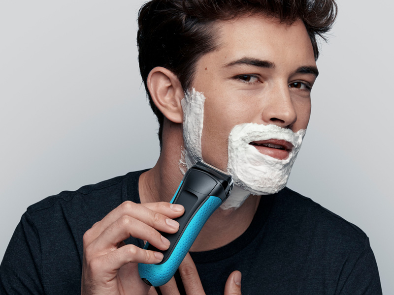 Prepare your face for the shave with Braun shavers.