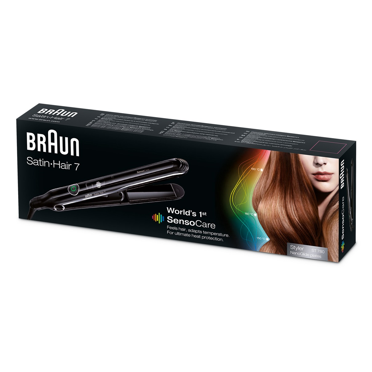 Braun Satin Hair 7 ST780 world's 1st SensoCare styler - packaging