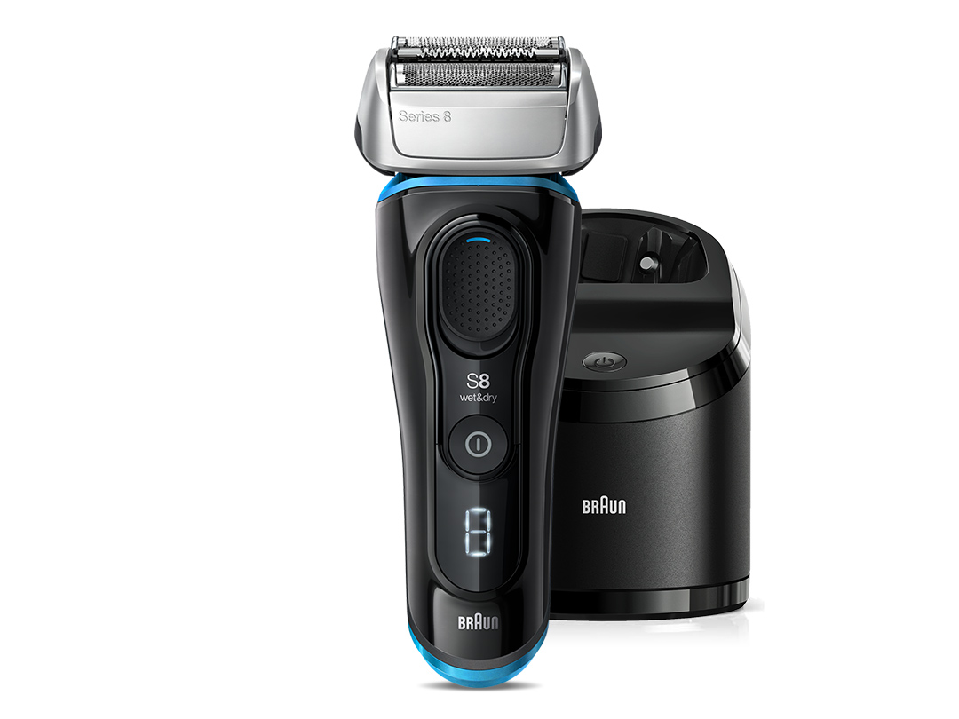 Series 8 black / blue with Clean & Charge station & travel case