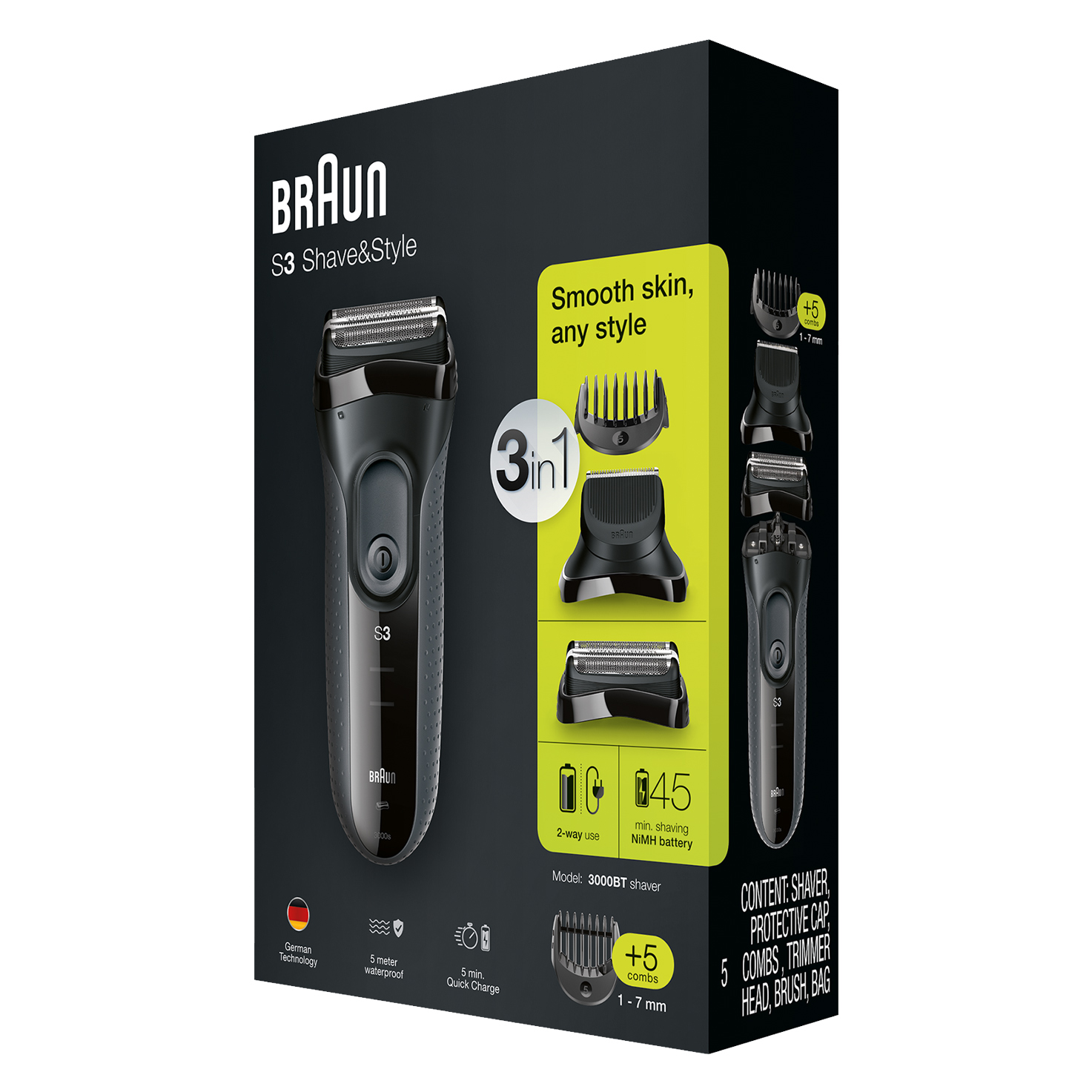 Series 3 ProSkin Shave&Style 3000BT