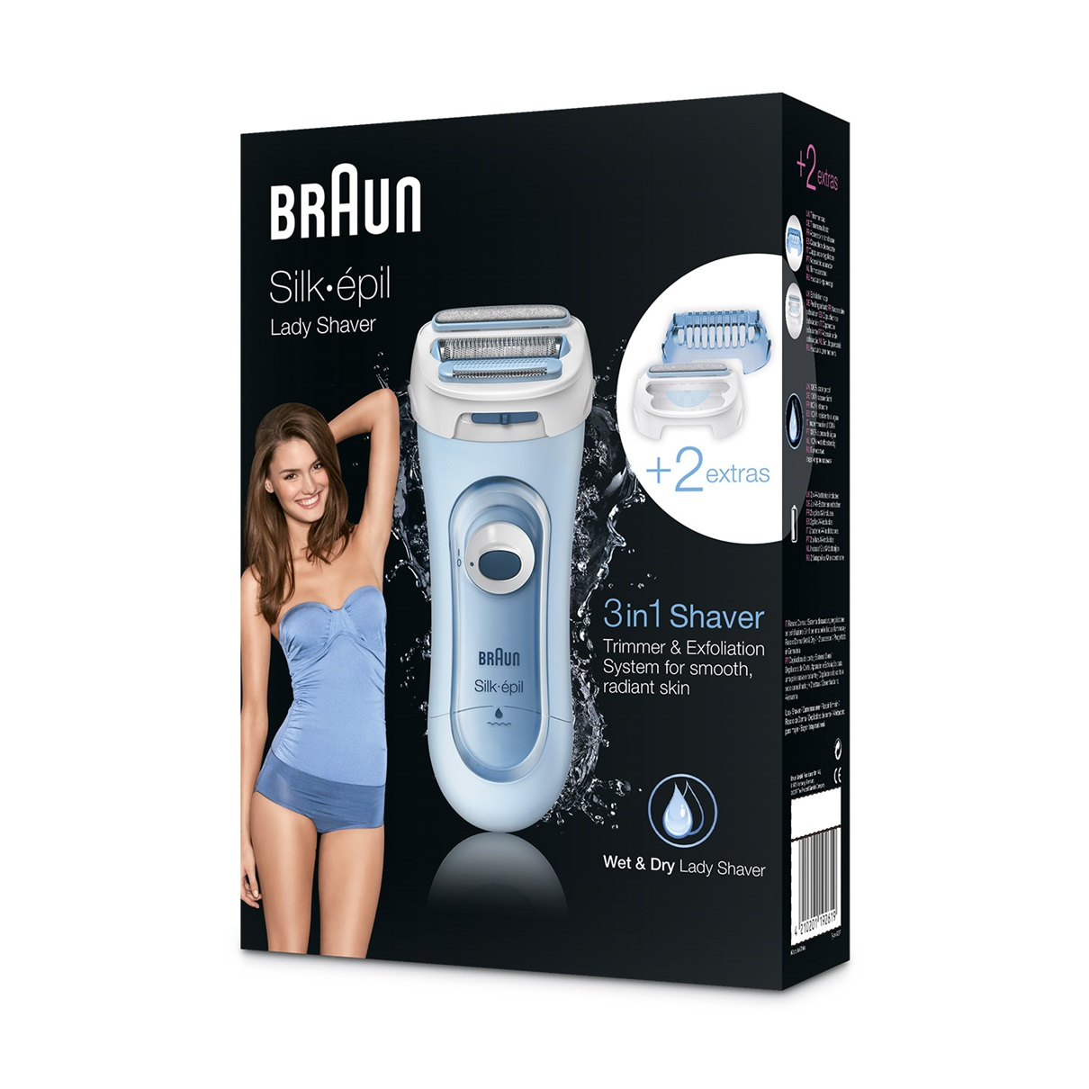 Braun Lady Shaver - 5160 Wet & Dry Electric Shaver for Women  - packaging