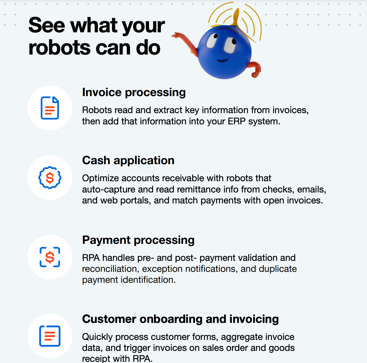 finance accounting robots uipath