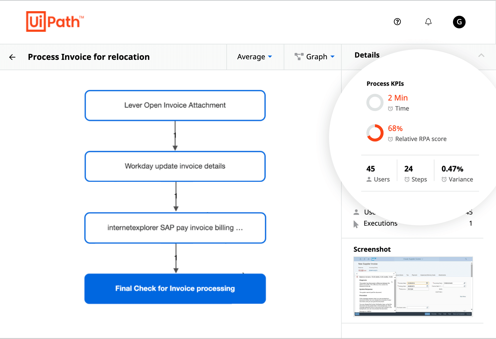 process invoice automation example uipath