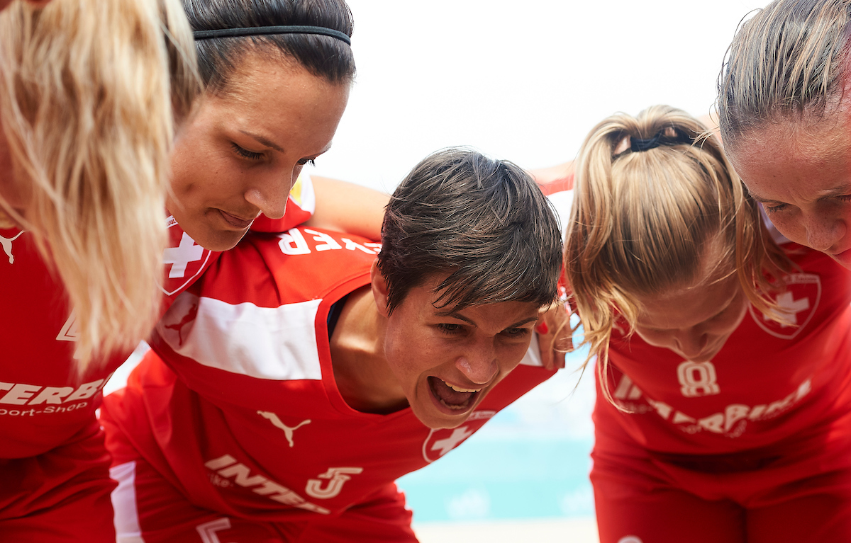 The Women's Beach Soccer Swiss national team at the Euro Beach Soccer Cup
