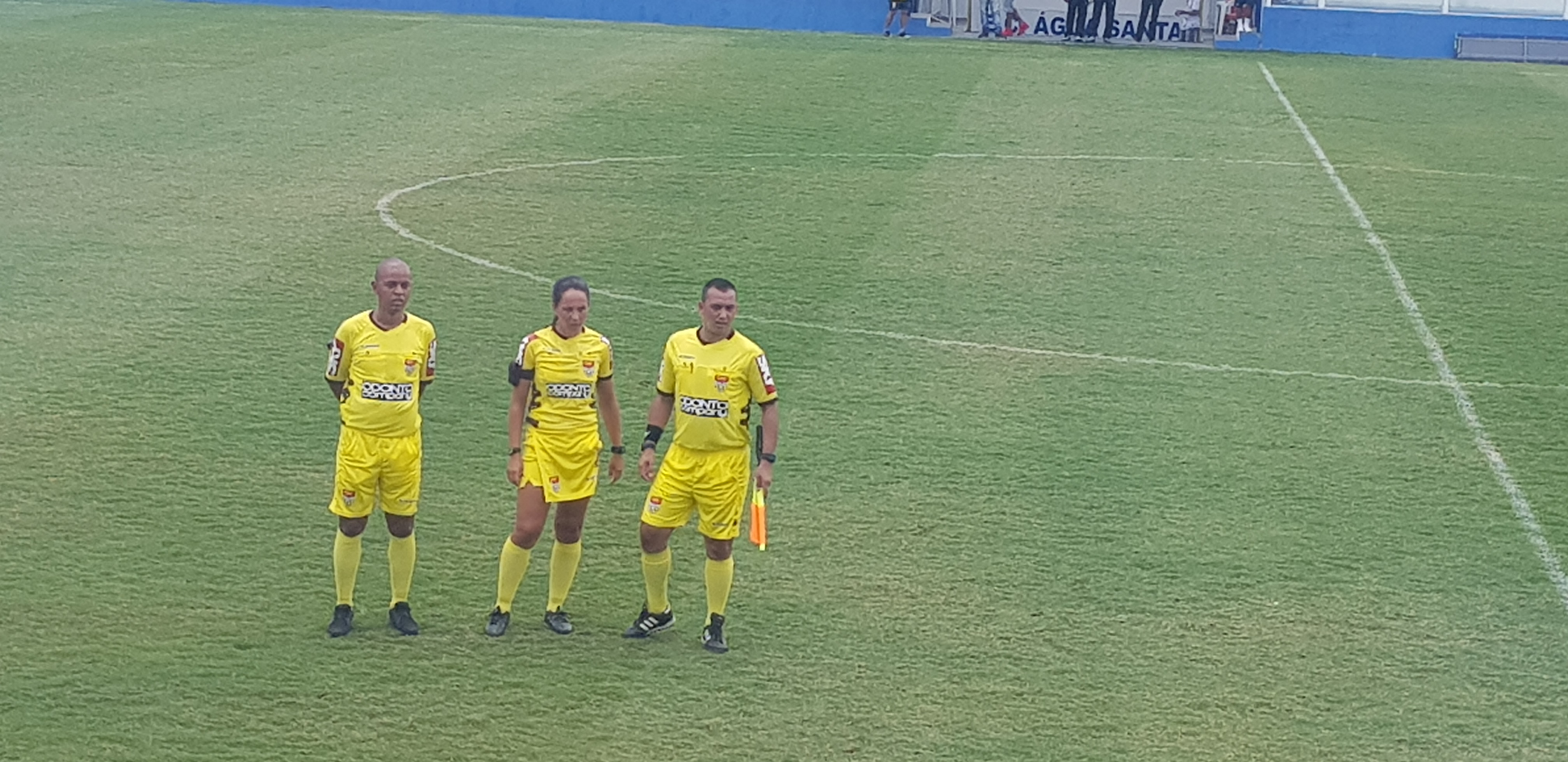 Adeli Mara Monteiro, 34, was the referee in charge of the Copinha 2019 game between Água Santa and Jacobina
